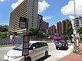 HK 屯門 Tuen Mun 青麟路 Tsing Lun Road Nursing School facade Bus K58 stop sign July 2016 DSC.jpg