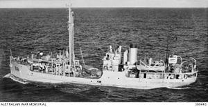 SS Bombo - SS Bombo in service as HMAS Bombo, taken Feb 1944