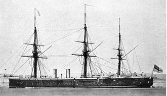 Richard Vesey Hamilton - Image: HMS Achilles (1863)