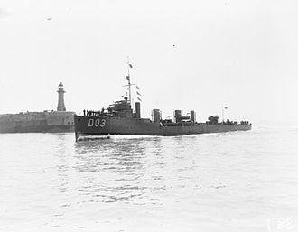 Tribal-class destroyer (1905) - Image: HMS Crusader WWI IWM Q 018253