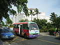 HN SanYa YaLong Bay light bus and taxi n Holiday Inn.jpg