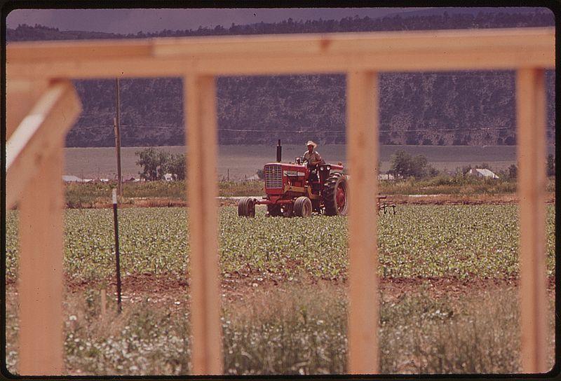 File:HOUSING DEVELOPMENT ENCROACHES UPON FARM LAND - NARA - 543667.jpg