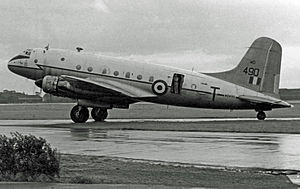 RAF Topcliffe - Image: HP.67 Hastings C.2 WD490 'T' 24.47 Sqns Ringway 09.08.52 edited 2
