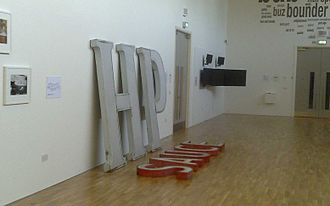 HP Sauce - Signage from the defunct factory in Aston, exhibited at Birmingham's mac gallery in June 2010