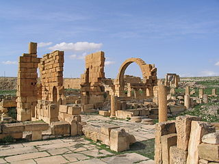 Haïdra Place in Kasserine Governorate, Tunisia