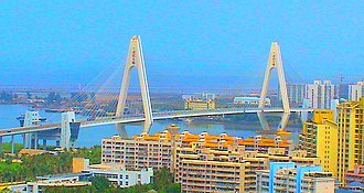 Haidian River - Image: Haikou Century Bridge Haikou 7