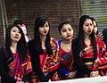 Hajong girls in traditional dress, Pathin and Argon.jpg