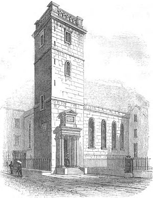All Hallows Lombard Street - All Hallows Lombard Street in the 1820s