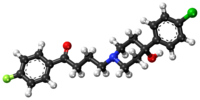 Haloperidol ball-and-stick model.png