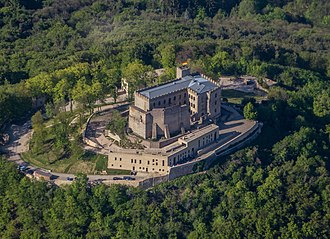 Hambach Castle - Aerial view of the castle