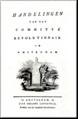 Handelingen van het Committé Revolutionair in Amsteldam, 1795, voorblad.png