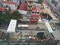 Hanoi Metro pillar construction, and building construction.jpg