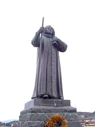 Statue of Hans Egede - Image: Hans Egede statue