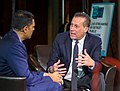 Hari Sreenivasan interviews Anthony Marx, from the New York Public Library, at the 2019 Knight Foundation Media Forum (46496342914).jpg
