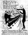 Hart cartoon about John D. Rockefeller leading capitalists in song.jpg
