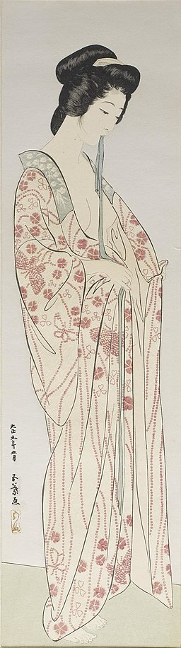 Hashiguchi Goyo - Woman Dressing in a Long Undergarment - Walters 95877