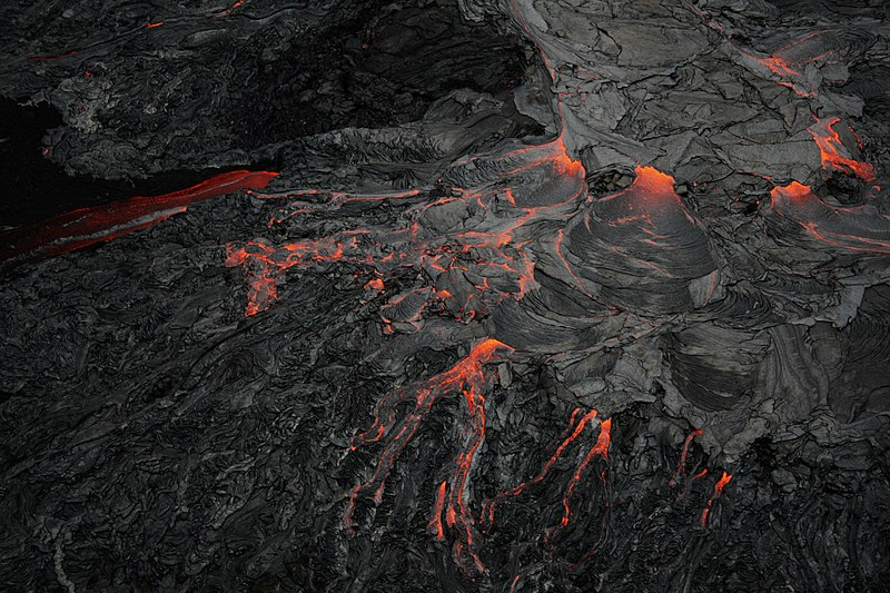 Hawaii Lava Flow Into Ocean Big Island