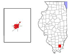 Location in Saline County in the state of Illinois.