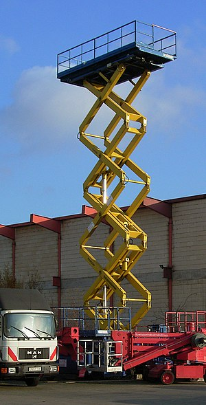 Linkage (mechanical) - An extended scissor lift