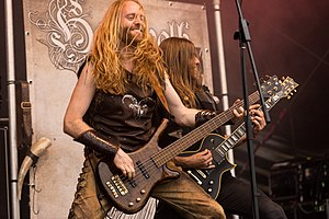 Heidevolk - Rowan Roodbaert and Kevin Storm performing at the 2017 Metal Frenzy Festival