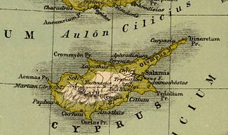 Battle of Salamis (306 BC) - Map of ancient Cyprus