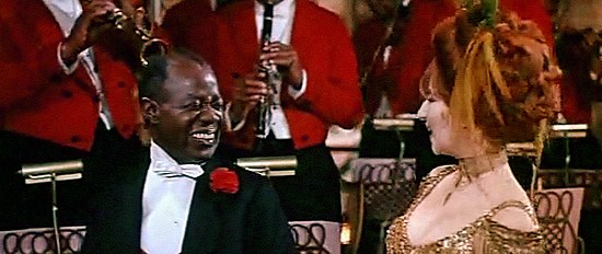Louis Armstrong as the orchestra leader with Barbra Streisand, singing the song in the 1969 film. Hello, Dolly!12.jpg