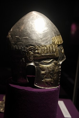 Helmet of Peretu - Image: Helmet from Peretu treasure MNIR