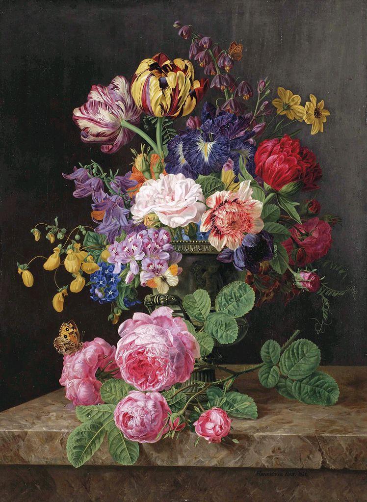 bouquet de fleurs avec vase