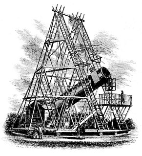 40-foot telescope 18th c. English reflecting telescope