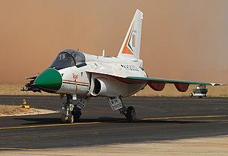Sulur Air Force Station - Image: Hindustan LCA Tejas Krivchikov 2007
