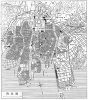 Hiroshima map circa 1930
