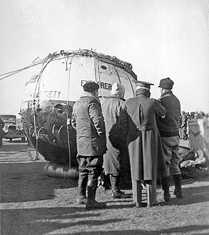 Explorer II - Explorer II gondola at the landing site