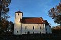 Hoff kirke (church) på Østre Toten i oktoberlys D.JPG