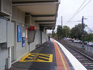 Holmesglen railway station railway station in Malvern East, Melbourne, Victoria, Australia