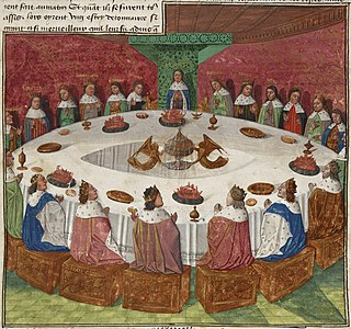 Round Table Table in the Arthurian legend