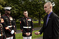Honorary Marine Daran Wankum, right, speaks with Marines of Marine Barracks Washington following a wreath laying ceremony at the Marine Corps War Memorial in Arlington, Va, June 13, 2013 130613-M-KS211-027.jpg