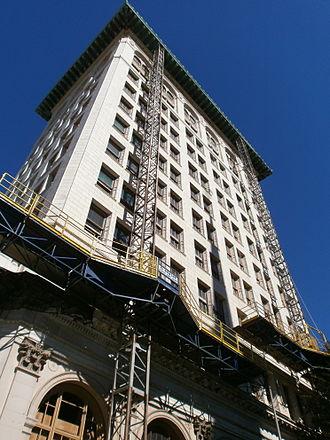 Hotel Indigo - Cass Gilbert building in Newark undergoing renovation Fall 2012
