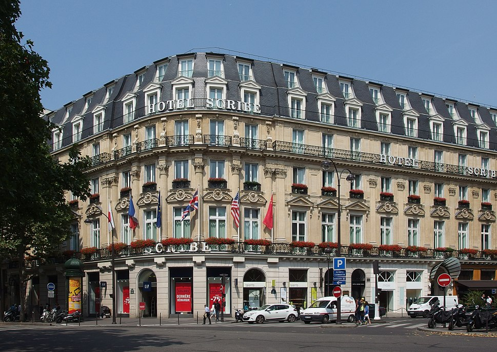 Hotel Scribe, Paris July 2014