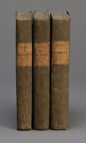 Sense and Sensibility - The three volumes of the first edition of Sense and Sensibility, 1811