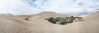Ica, Peru - Huacachina, an oasis near Ica