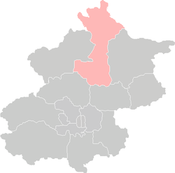 Location of Huairou District in Beijing