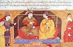 'İlhan' Hülagû ve eşi Dokuz Hatun (Reşidüddin Camiût-Tevarih kitabından)