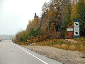 Ontario Highway 101 - Image: Hwy 101 Divide ON