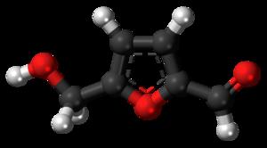 Hydroxymethylfurfural - Image: Hydroxymethylfurfura l 3D ball