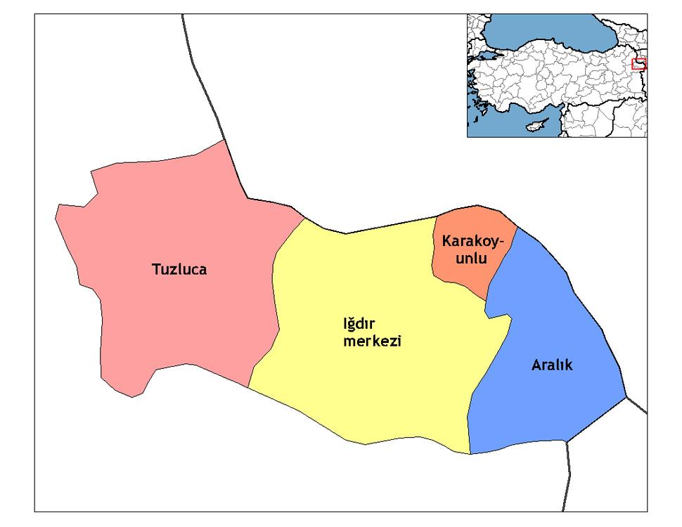 Iğdır districts