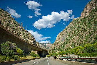 Interstate 70 - I-70 at Glenwood Canyon