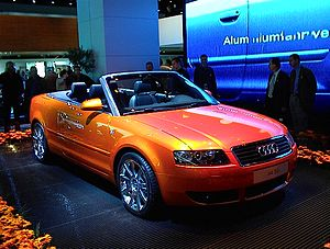 International Motor Show Germany - Audi A4 Convertible at the 2001 Frankfurt Motor Show