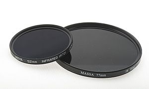 Infrared cut-off filter - IR transmitting filters, used in photography.