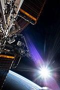 ISS-63 Sun beams on Chris Cassidy spacewalk 2.jpg