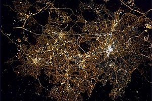 ISS Birmingham at night
